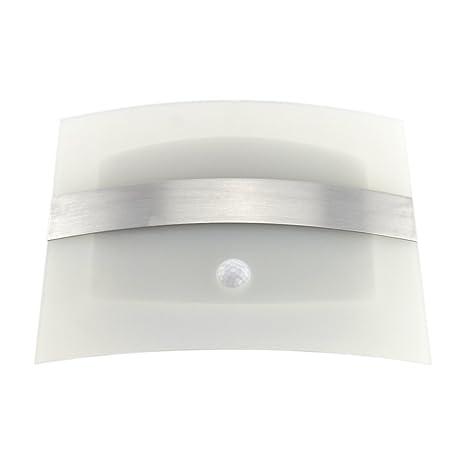 Aluminio cepillado Samyo ahorro de energía Luz-funcionada Sensor de movimiento activado LED aplique de