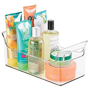 mDesign Portable Bathroom Vanity Under Cabinet Health and Beauty Supplies Caddy Organizer