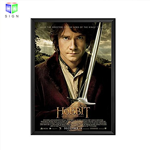 Led Aluminum Movie Poster Snap Frame 27x40 Inch With Led Backlit Advertisment Poster Frame Display For Theater Sign