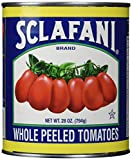 Sclafani Whole Peeled tomatoes are made from fresh vine ripened tomatoes, tomato juice and salt. There are no stringy cores or broken tomatoes. Our tomatoes are hand selected for firmness and quality and are uniform in size and color.