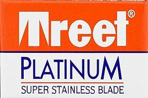 100 Treet Platinum Super Stainless Double Edge Razor Blades