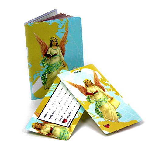 Guardian Angel Travel Set- Passport Cover + 2 Large Luggage Tags