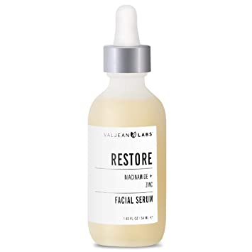 Amazon.com: Valjean Labs Facial Serum, Restore, Niacinamide + Zinc: Beauty