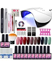 COSCELIA 36W LED UV Nail Dryer Curing Lamp With 10 Colors Soak Off Gel Polish Starter Kit Manicure Nail Tool