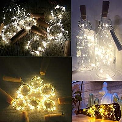 Yangshan 2M LED Garland String DIY Luces de Hadas for Botella de ...