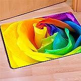 front door color ideas HUGS IDEA Rainbow Color Rose Flower Doormat Entrance Mat Floor Mats Indoot/Outdoor/Front Door/Bathroom Rugs Rubber Non Slip