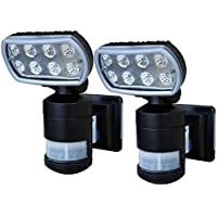 Versonel Nightwatcher Pro 8 LED Security Motion Track Light, 2 Pack VSLNWP502B2P