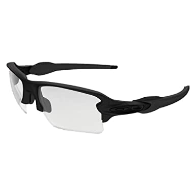 24b78ab5c1 Oakley OO9188-37 ELITE S.I FLAK 2.0 XL Matte Black Clear Grey Mens  Sunglasses