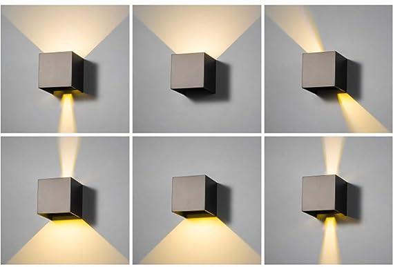 Lampada da parete moderna a led w lampada da parete esterna