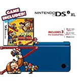 Nintendo DSi XL - Midnight Blue Bundle with Mario vs Donkey Kong Mini-Land Mayhem