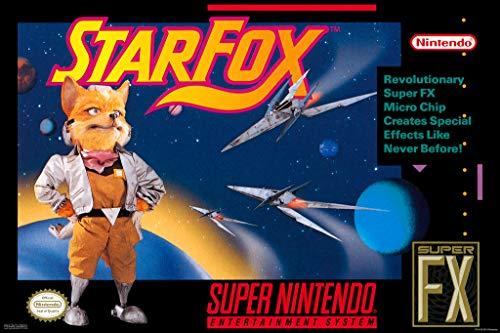 Pyramid America Starfox Super Nintendo Box Art Poster 12x18 inch