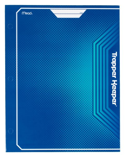 Mead Trapper Keeper 2-Pocket Portfolio, 12 x 9.38 x .12 Inches, Blue (72646)