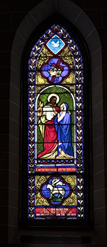 Photograph| Stained glass window inside Christ Episcopal Church in Raleigh, North Carolina, one of the first Gothic Reivival churches in the American South 1 Fine Art Photo Reproduction 44in x 88in