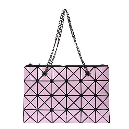 CY Bag Version Coréenne Sac à Main Sac à Bandoulière Pliable Lingge Couture Dames Diagonale Sac à Main Sac à Main De La Mode Pink