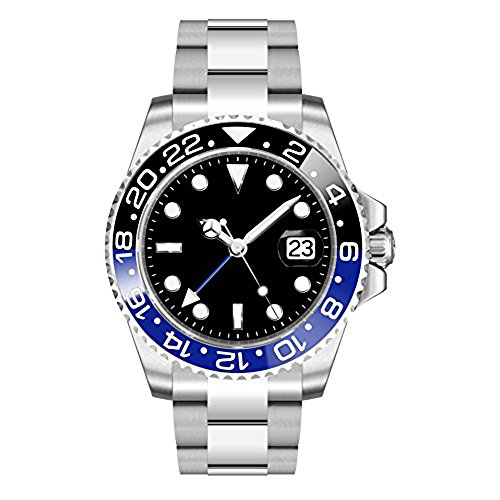 Parnis 40mm Sapphire Crystal GMT Date Deployment Buckle Automatic Mens Watch