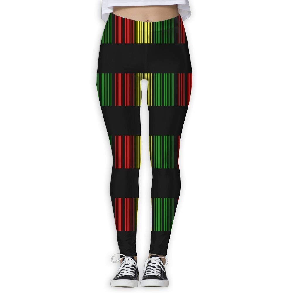 Reggae Barcode Women's Stretchable Sports Running Yoga Workout Leggings Pants