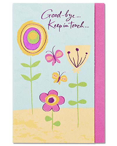 American Greetings Keep in Touch Goodbye Congratulations Card with Glitter