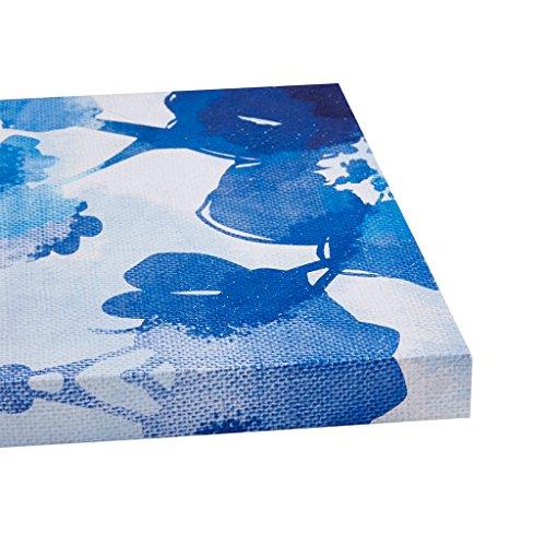 Iii Framed Canvas (Cobalt Garden Blue Canvas Wall Art 11X14 3 Piece Multi Panel, Botanical Modern/Contemporary Wall Décor)