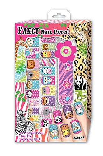 Nail Kit Magic Safari Fancy Nail Patches in a Color Box