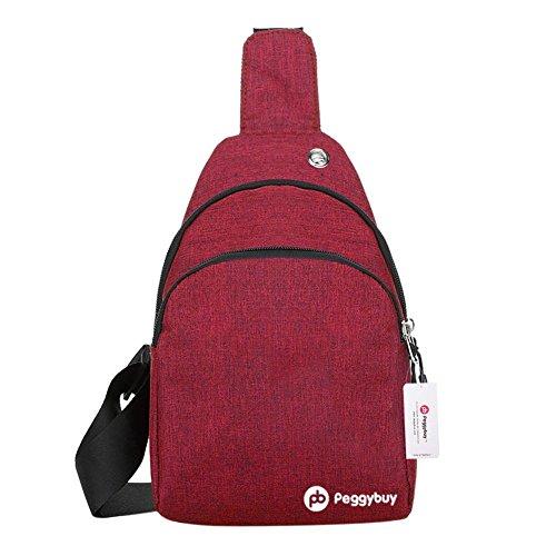 estilo bolso rojo color para PEGGYBUY de Bolso casual bandolera PB el de mano lona pecho qg6PUqn
