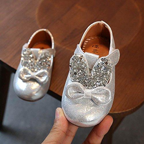 1e802f2ad1b151 ... Hunpta Kleinkind Baby Sequin Kaninchen Ohren Bowknot beiläufige  Turnschuhe nette Schuhe Silber ...