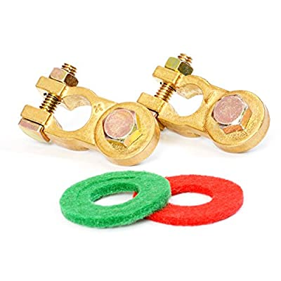 Handster Lead-free Brass Battery Terminal Kit with Anti-corrosion Washers