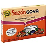 Goya Sazon Culantro/Achiote Jumbo 6.3 OZ(Pack of 6)