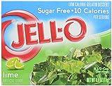 Jell-O Sugar Free Gelatin Dessert, Lime, 0.60 oz