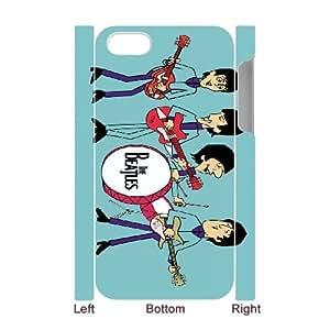 the beatles cartoon 2 iPhone 4 4s Cell Phone Case 3D 53Go-360766
