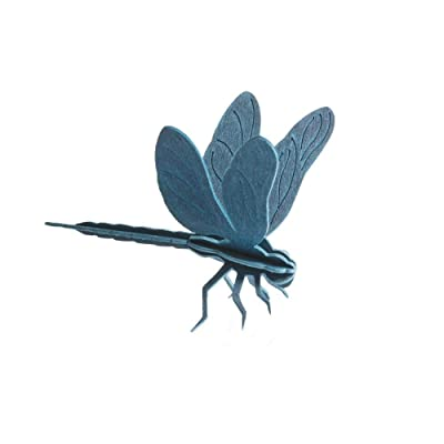 LOVI Dragonfly 3D Puzzle - Blue Wood - Postcard - 10 cm: Home & Kitchen