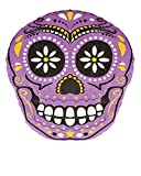 Day Of The Dead Mexican Purple Skull Pillow Halloween Decoration Accessory