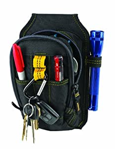 Custom Leathercraft 1504 Multi-Purpose Carry-All Tool Pouch, 9-Pocket