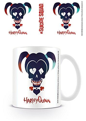 DC Comics Harley Quinn Suicidio Taza Plantilla Icono cráneo café ...