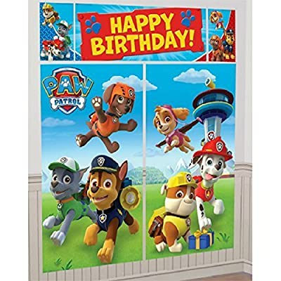Nickelodeon Paw Patrol Scene Setters Wall Banner Decorating Kit Birthday Party Supplies: Toys & Games