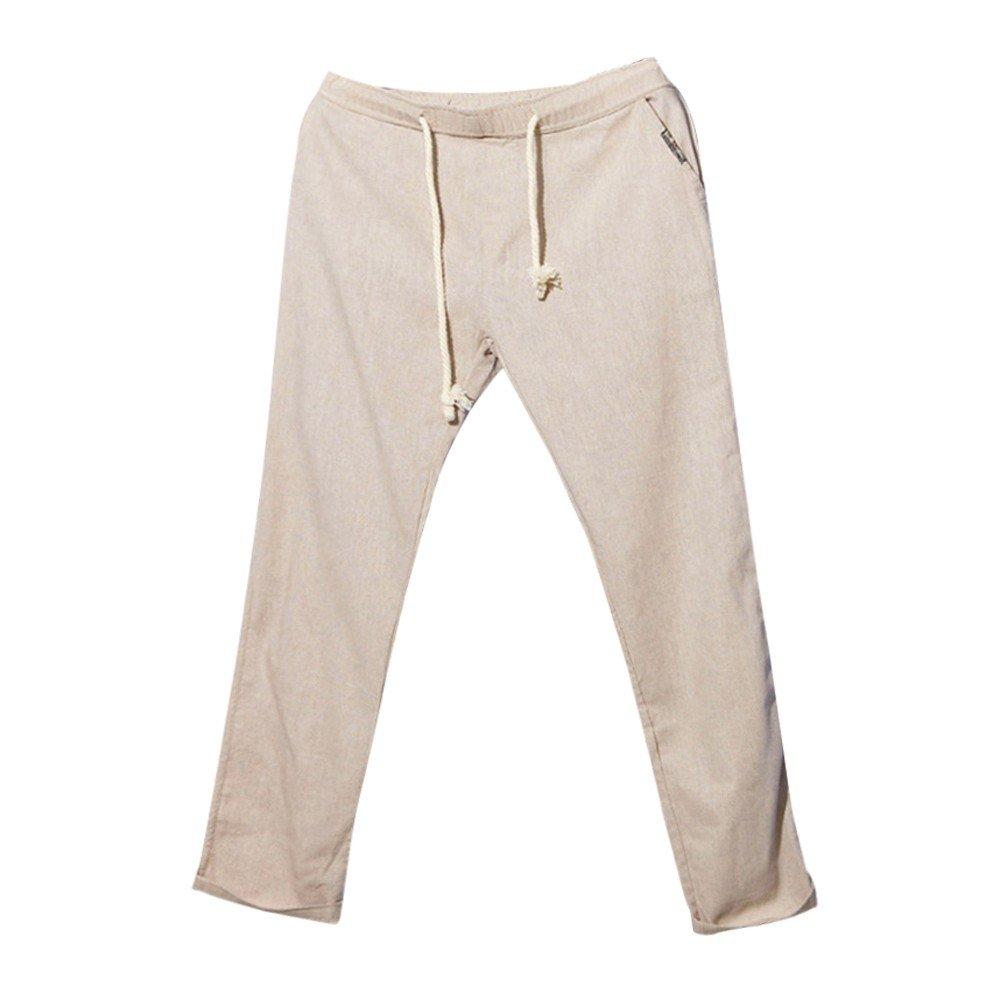 Sueltos Lino Gusspower De Pantalones Verano Hombre wwR4Xq