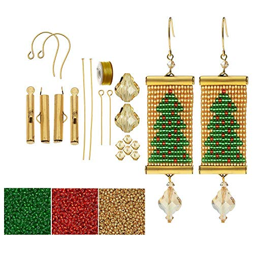 Beadaholique Refill - Loom Statement Earring Kit - Christmas Tree - Exclusive Jewelry Kit