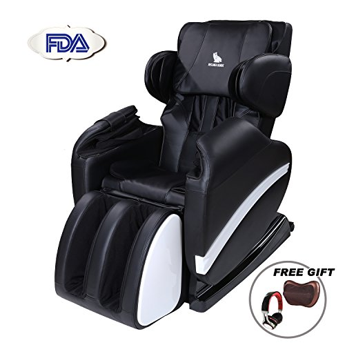 Murtisol Full Body Massage Chair Massage Sofa Electric Massage Recliner Zero Gravity with extra Headset for the special gift BLACK