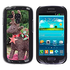 Hot Style Cell Phone PC Hard Case Cover // M00111447 Ren Reindeer Hand Labor // Samsung Galaxy S3 MINI i8190