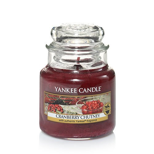 Yankee Candle Cranberry Chutney Small Jar Candle, Fruit Scent (Chutney Cranberry Yankee Candle)