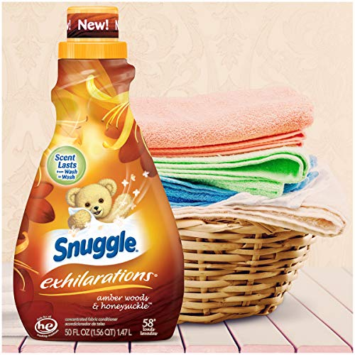 Amazon.com: Snuggle Exhilarations Amber Woods & Honeysuckle Concentrated Liquid Fabric Softener, 50 Oz, 58 Loads: Kitchen & Dining
