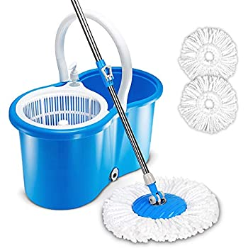 Amazon Com Microfiber Spin Mop Cleaning System Easy