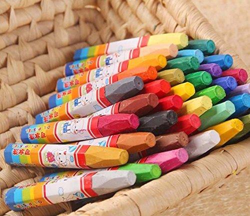 PANDA SUPERSTORE Multicolor Washable Oil Pastels/Non-Toxic Color Pens, 18ct (Random Color)