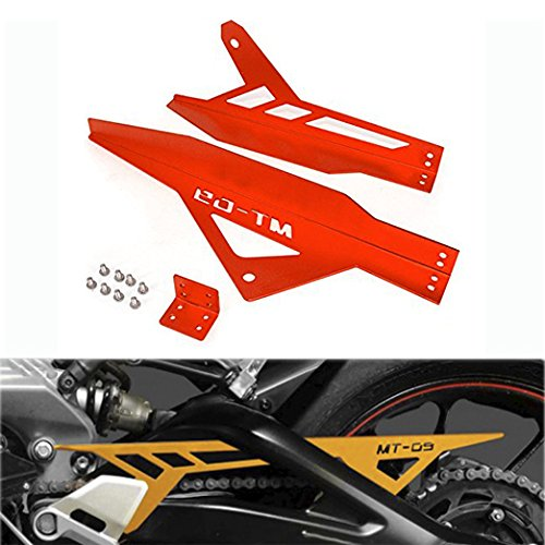 09 Chain Guard (JFG RACING CNC Aluminum Chain Guard Cover Shield Protection for Yahama MT09 FZ09 2013-2016 Red)