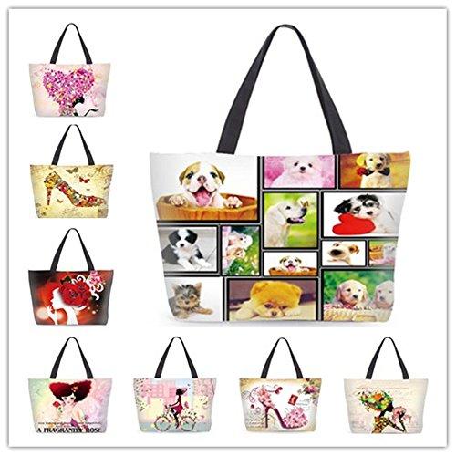 Patent Girls Tote Ladies Nice Canvas Fashion Handbag Beach Girl school college Shopping BEwd8qd