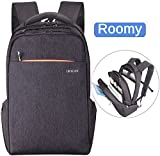 LAPACKER Slim Lightweight Laptop Backpack Casual Daypacks Outdoor Sports Rucksack School Shoulder Bookbags for Men,Tear Resistant Unique Business Backpack (Light Coffee)