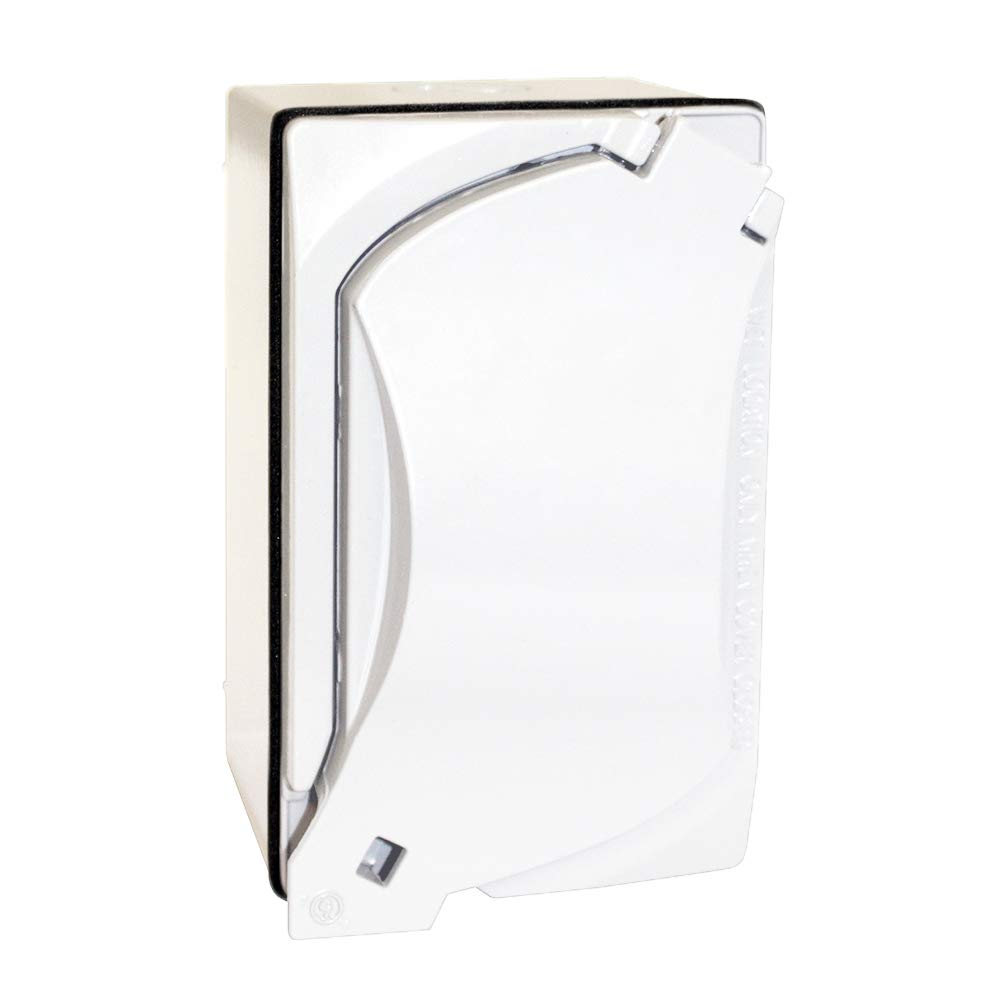 Sigma Electric 16446WH Kit of Rectangular Box Cover and Trwr Duplex Receptacle White