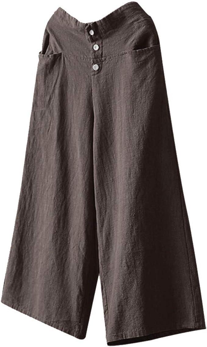 5XL Ladies Legged Plus size Pants Floral Womens Waist Trousers Elastic Loose