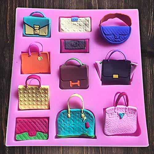 SaSa Design Mini Handbag Shape Fondant Cake Chocolate Mold Candy Kitchen Baking Tools (Bags Mold)