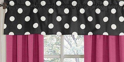 Sweet Jojo Designs Hot Dot Modern Window Valance