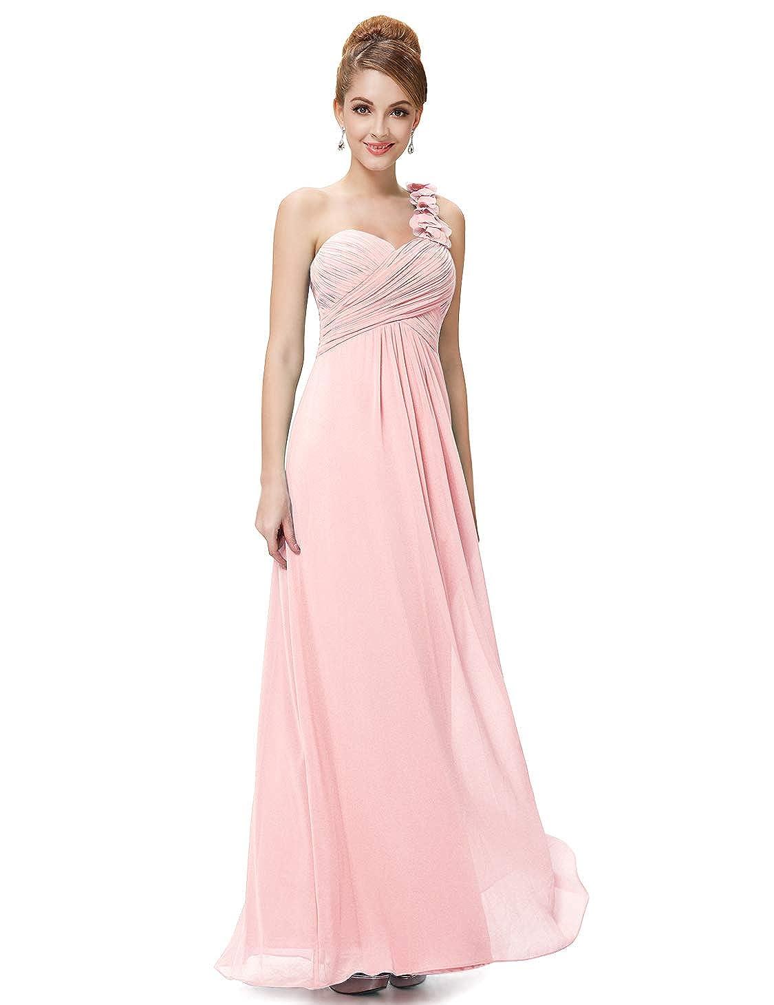 7385b23e3d Ever-Pretty Flower One Shoulder Empire Waist Floor Length Bridesmaids Dress  09768